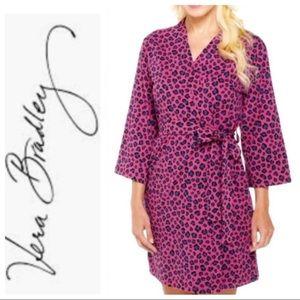 Vera Bradley Raspberry Leopard Print Robe s/m